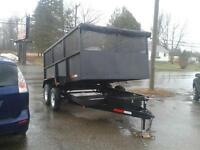 2015 Dump trailer 7x12 with 4 ft sides price $ 6150