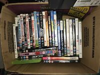 Job lot of dvds and 360 games