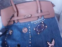 Victoria collection denim bag