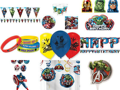 Avengers Party Geburtstag Marvel Banner Tischdecke Gedeck Armbänder Kerze (Avengers Geburtstag Banner)