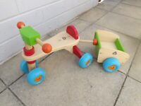 Wooden colourful tricycle by ELC