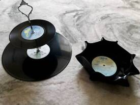 Retro Cake Stand and Bowl (Hand crafted)