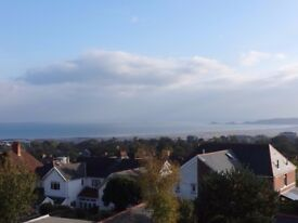 Spacious 4 bedroom family house in Sketty with fantastic sea views - available unfurnished
