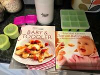 Tommee Tippee bottle warmer and feeding books