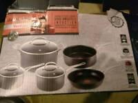 Jamie Oliver Tefal Professional 5 piece hard anodised set