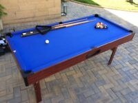Pool Table 6'x3' with folding legs