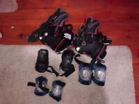 Inline Roller Skates Kids (Size 3-7 UK) with pads