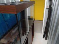 Jewel Rio 350 High Dark Wood Aquarium, Stand and Accessories.