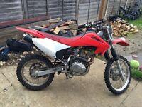 Honda crf 156 training bike