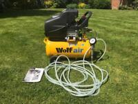 Wolf Air Sioux 24 Litre, 2.5HP Induction Motor, 9.6CFM, 230v, MWP 116psi Air Compressor