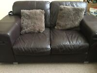 2 x 2 seater leather sofas. Free to a good home. MUST BE ABLE TO COLLECT