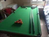 Pool table - pot black -SOLD