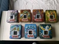 Yu-Gi-Oh! Card tins with 80+ cards in each