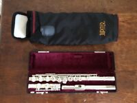 Flute, Jupiter JFL-511E-II, Silver plated, hard case, soft carry case. Excellent condition