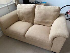 Ikea Tidafors two seater beige sofa cream brown feet Tidafors RRP £395
