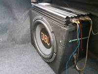 """JBL 15"""" sub 2000w amp with 6*9 speakers in boxes"""