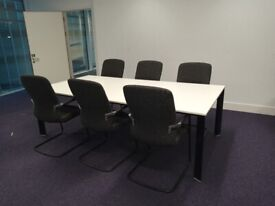 16 White large Senator Office/Meeting/Boardroom/Conference table Free delivery on orders over £70*