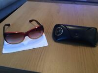 Second Hand / Lunettes De Soleil Rayban Rb4139 Red Gradient Yellow - RB4139-781-13