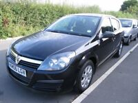 Vauxhall Astra 2006 1.4i 16V Club 5dr for sale. Petrol, manual with MOT and Service. Black.