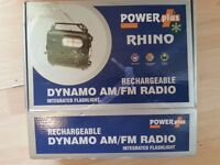 RECHARGEABLE & DYNAMO RADIO/FLASHLIGHT