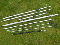 JOB LOT OF 8 BANK STICKS, MOST ADJUSTABLE LARGE TO SMALL, GOOD QUALITY.