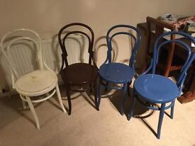 Four bentwood chairs available for sale £60.