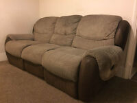 Layflat Reclining 3 Seater Sofa.
