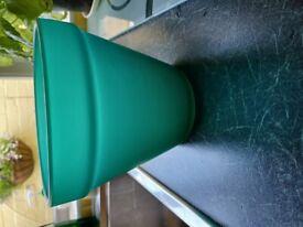 Green glass plant pot 17 cms x 15 cms