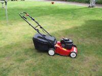 mountfield homelite self prop petrol lawnmower with grass box .