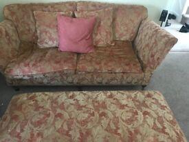 Stunning sofa and footstall