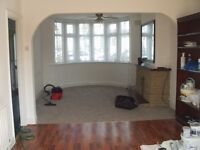 Newly painted 3 bedroom house with off street parking for 1 car