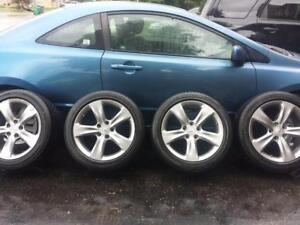 ACURA TL 2014 FACTORY OEM 18 INCH WHEELS WITH HIGH PERFORMANCE MICHELIN 245 / 45 / 18 ALL SEASONS.