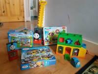 Thomas & friends bundle od toys. Puzzle . Phone. Push along toy