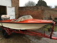Speedboat project with 40HP outboard and trailer