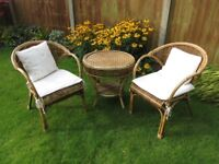 Conservatory/Summerhouse Furniture Set of Table and 2 Chairs