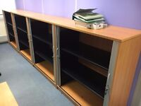 fantastic 1.2 meter high cherry tambour cupboards we have 10 avaliable