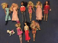 Bundle of 9 Barbie dolls plus Barbie dog and lots of extra clothes