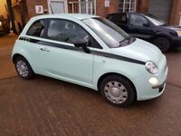 FIAT 500 64 REG MINT GREEN 51K FULL HISTORY LOVERLY CAR CHEAP TAX, LIGHT DAMAGE REPAIRED