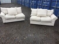 Bargain Italian Fabric Split Sofas Excellent Condition, Free Delivery In Norwich,