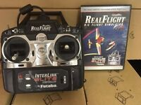 R/c RealFlight Simulator G4 Great Planes. Software + Controller