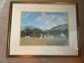 Framed Roy Perry Cricket Print Picture