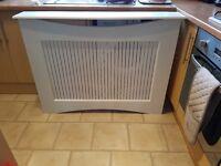 White wooden radiator cover