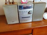 Cd player with tape and radio