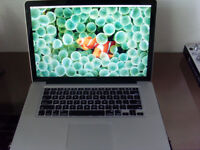 MacBook Pro 15 inch 2012 3.3 quad core I7, 8GB Ram 128GB SSD + 750GB HD Latest OSX & Logic Pro X