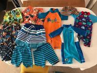 Boys swimwear bundle various sizes