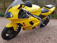 Triumph Daytona 955i 2002. 12 months MOT, 2 owners from new. Immaculate.