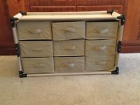 Canvas folding drawers