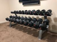 Weights with stand