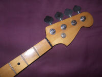 Fender Squier Precision Bass Style Neck Maple + Tuners.