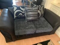 Pair of 2+3 Seater Velvet Sofas in perfect condition